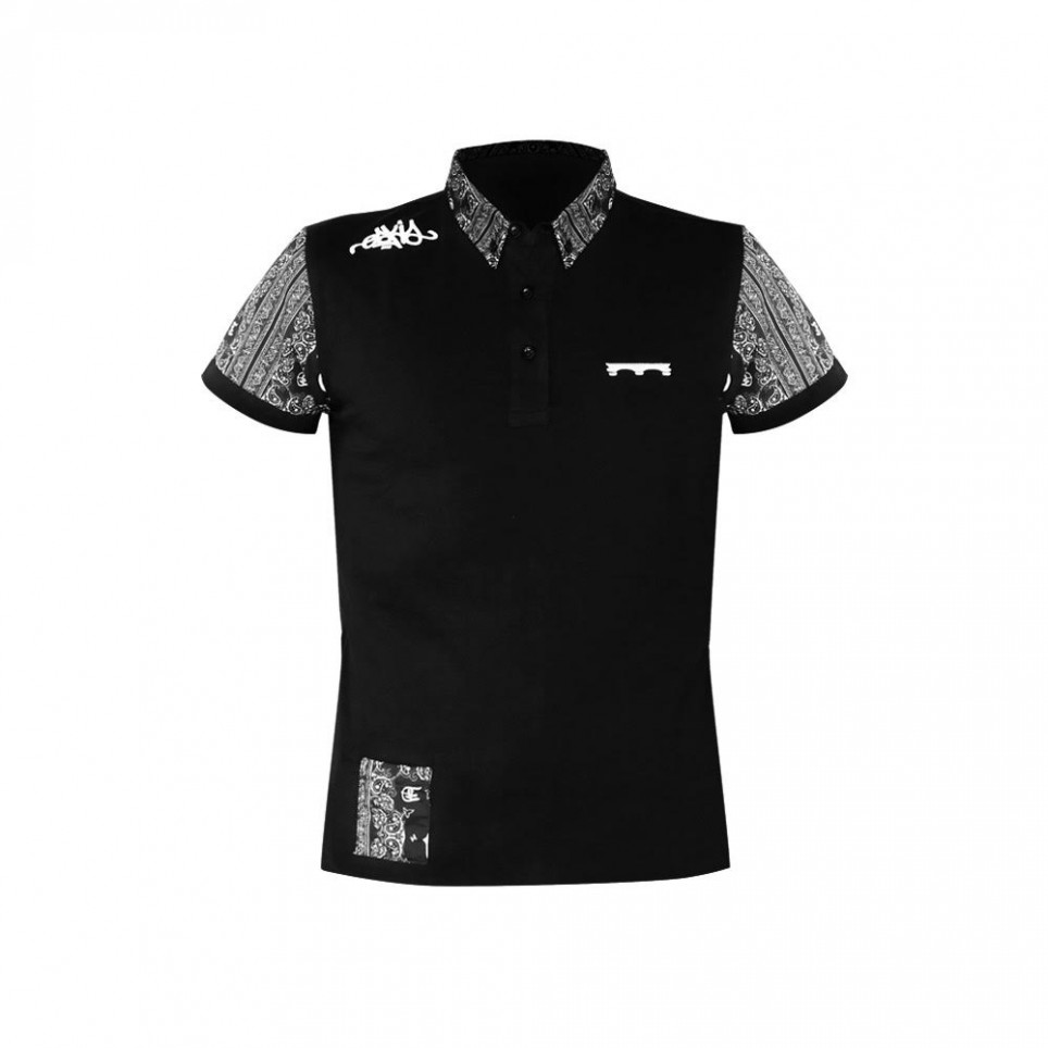 Bandana blk polo t shirt eskis company for Order company polo shirts
