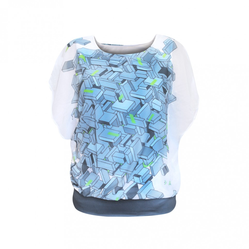 Puzzle 3D Wh - Camiseta Mujer