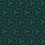 Hive Turquoise - Typo Wh