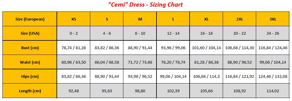 N7 - Cemi Dress Sizing Chart (GB)